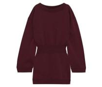 French Cotton-terry Mini Dress Burgundy
