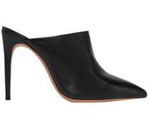 Leather Mules Black