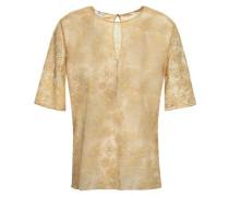Cailloux Metallic Lace Pajama Top Sand