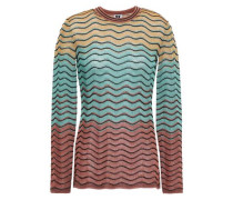 Metallic Ombré Crochet-knit Top Jade