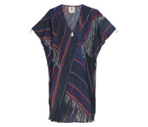 Printed cotton-blend kaftan