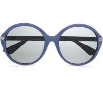 Round-frame Printed Acetate Sunglasses Royal Blue Size --