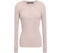 Ribbed Cotton And Cashmere-blend Top Blush