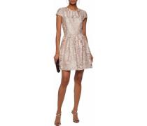 Flared guipure lace mini dress