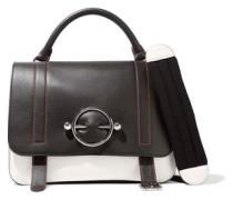Disc Large Leather And Suede Shoulder Bag Black Size --