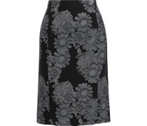 Brenda Brocade Pencil Skirt Black