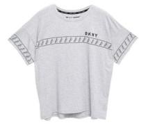 Woman Mélange Stretch-cotton And Modal-blend Jersey T-shirt Light Gray