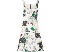 Tate Floral-print Tech-jersey Dress White Size 12