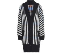 Striped wool-blend jacquard sweater