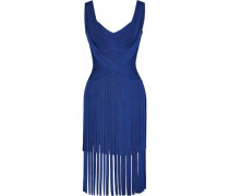 Fringed bandage mini dress