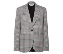 Embellished Prince of Wales woven blazer