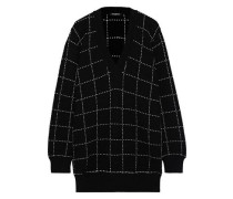Checked Knitted Sweater Black