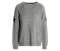 Mélange wool and cashmere-blend sweater