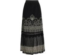 Fil Coupé Silk-blend Maxi Skirt Black