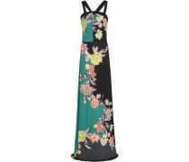 Floral-print Stretch-jersey Maxi Dress Teal