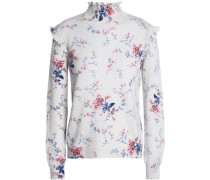 Robbia floral-print wool and cashmere-blend turtleneck sweater