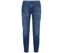 Distressed Boyfriend Jeans Dark Denim  3