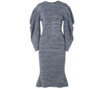 Woman Marled Cotton Dress Blue