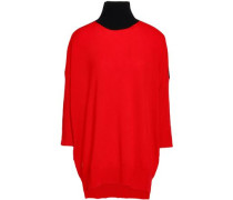 Cashmere And Wool-blend Turtleneck Sweater Red