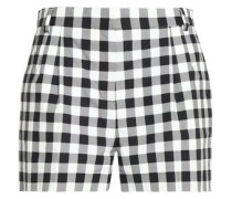 Gingham cotton shorts