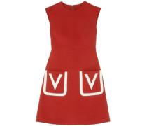 Grain De Poudre Wool Mini Dress Brick