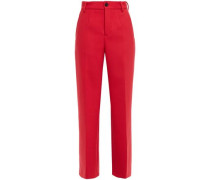 Woman Twill Straight-leg Pants Tomato Red