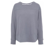 Ribbed cotton-blend jersey pajama top