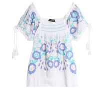 Rubi embroidered cotton-voile blouse