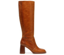 Thompson burnished-leather boots