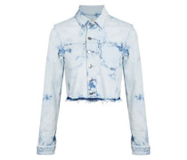 Zuma cropped bleached denim jacket
