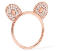 Rose gold-plated topaz ring