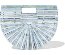 Ark Small Marbled Acrylic Clutch Sage Green Size --