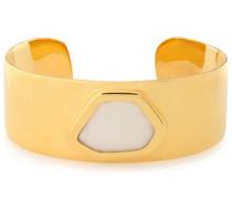 Petra Hero 18-karat gold vermeil moonstone cuff