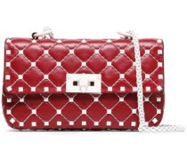 Rockstud Quilted Leather Belt Bag Claret Size --