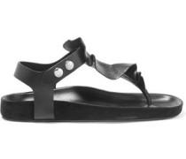 Leakey ruffled leather sandals
