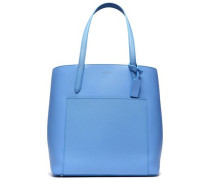 Textured-leather Tote Light Blue Size --