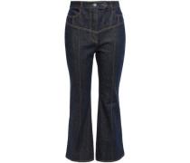 High-rise Kick-flare Jeans Dark Denim  4