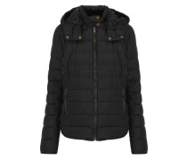 Avedon Quilted Cotton-blend Shell Hooded Down Jacket Black