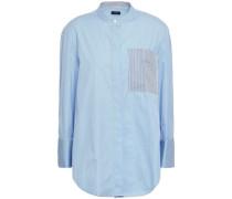 Callen Pinstriped Cotton-poplin Shirt Light Blue