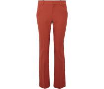 Wool-blend Twill Straight-leg Pants Brick