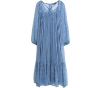 Verah striped georgette midi dress
