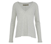 Cotton And Cashmere-blend Top Light Gray