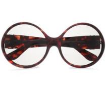 Round-frame Logo-embellished Acetate Sunglasses Brown Size --