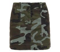 Woman Ilona Printed Stretch-cotton Twill Mini Skirt Army Green