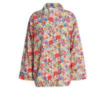 Floral-print Cotton-poplin Pajama Top Multicolor