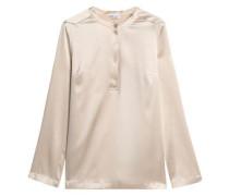 Bead-embellished silk-blend satin blouse