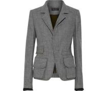 Houndstooth brushed-wool jacket