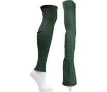 Ribbed Cotton-blend Arm And Leg Warmers Forest Green