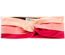 Woman Hedy Twisted Color-block Satin Headband Pink