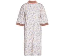 Printed cotton mini dress